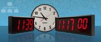 Grandes horloges murales numériques synchronisées