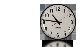 poe mur horloge analogique