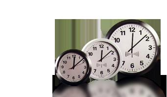 la radio analogique contrôlée horloge murale